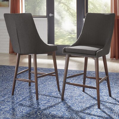 Blaisdell 24 Bar Stool Upholstery: Dark Gray