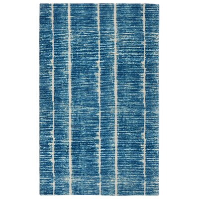 No�l Contemporary Modern Blue Area Rug Rug Size: Rectangle 56 x 86