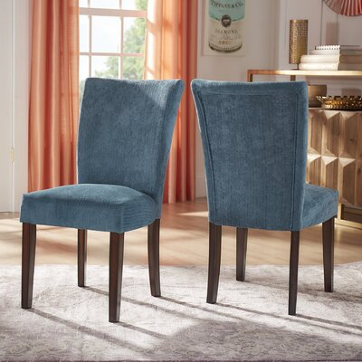 Danberry Parsons Chair Upholstery: Royal Blue