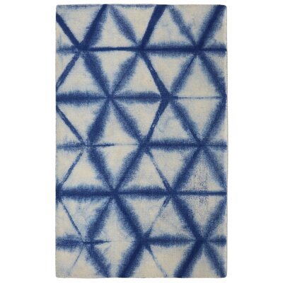 Freetown Speckle Diamond Contemporary Modern Blue/Off-White Area Rug Rug Size: Rectangle 76 x 96