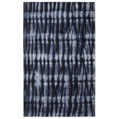 Freetown Resist Contemporary Modern Navy Area Rug Rug Size: Rectangle 56 x 86