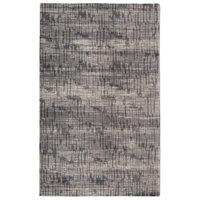 Labombard Traffic Contemporary Modern Gray Area Rug Rug Size: Rectangle 56 x 86