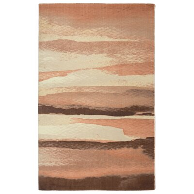 Labombard Contemporary Modern Beige/Peach Area Rug Rug Size: Rectangle 56 x 86