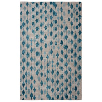 Victorine Pendant Contemporary Modern Blue/Ivory Area Rug Rug Size: Rectangle 76 x 96