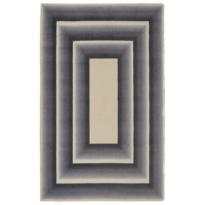Glenmore Frame Modern Geometric Gray/Beige Area Rug Rug Size: Rectangle 76 x 96