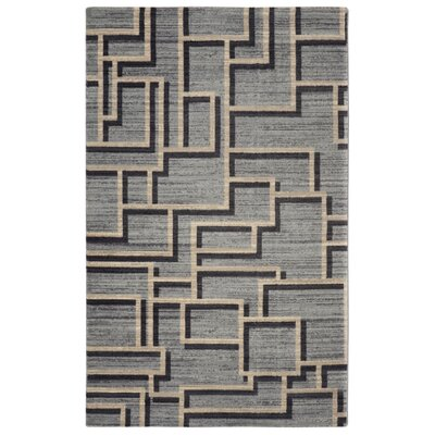 Pacheco Mid-Century Geometric Gray Area Rug Rug Size: Rectangle 56 x 86