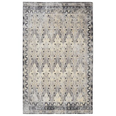 Freetown Distressed Vintage Inspired Gray/Ivory Area Rug Rug Size: Rectangle 76 x 96