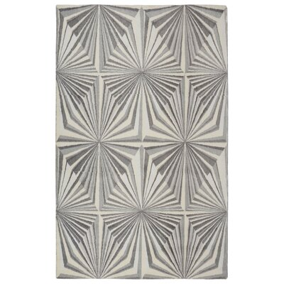 Dukes Illusion Modern Geometric Gray Area Rug Rug Size: Rectangle 56 x 86
