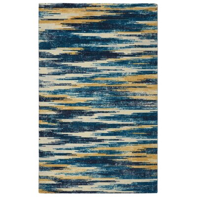 Victorine Slash Modern Bohemian Blue Area Rug Rug Size: Rectangle 5 x 7