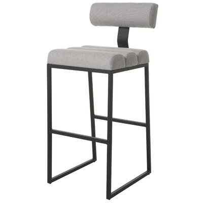 Icenhour Bar Stool Upholstery: White, Seat Height: 32