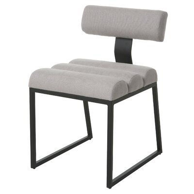 Icenhour Upholstered Dining Chair Upholstery Color: Gray