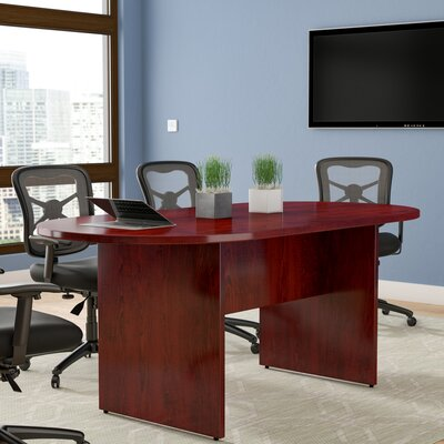 Greenburgh Racetrack/Oval 29.5H x 36W x 72L Conference Table Finish: Mahogany