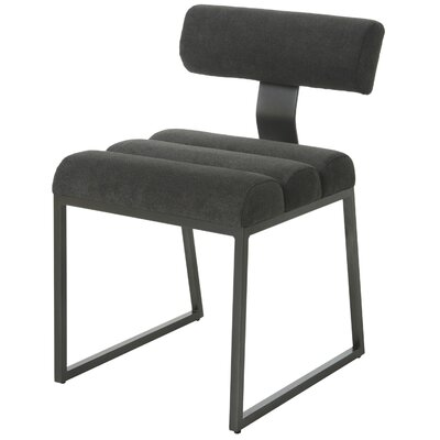 Icenhour Upholstered Dining Chair Upholstery Color: Black