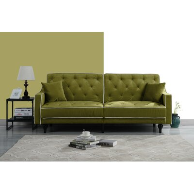 Hypes Mid Century Convertible Sofa Upholstery: Green
