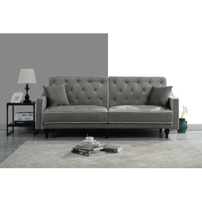 Hypes Mid Century Convertible Sofa Upholstery: Light Gray