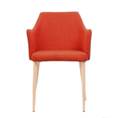 Piner Upholstered Dining Chair Upholstery Color: Orange