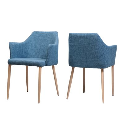 Piner Upholstered Dining Chair Upholstery Color: Blue
