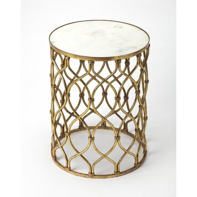 Kane Metal and Glass End Table