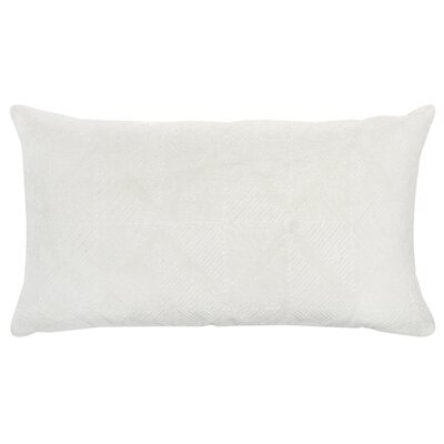 Poly-Filled Cotton Throw Pillow Color: White
