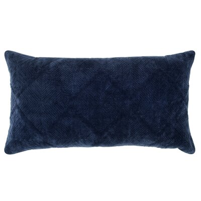 Poly-Filled Cotton Throw Pillow Color: Indigo