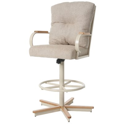 Ketchum Swivel Bar Stool Upholstery: Tan, Seat Height: 26