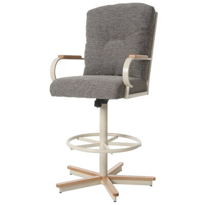 Ketchum Swivel Bar Stool Upholstery: Brown, Seat Height: 32