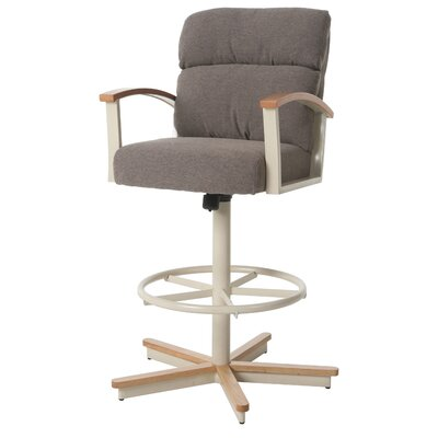 Kiesel Swivel Bar Stool Seat Height: 26