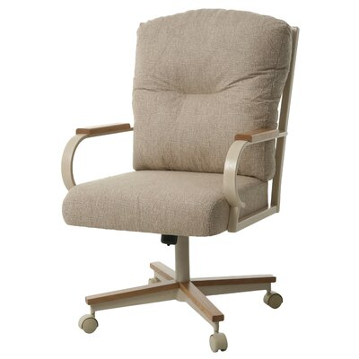 Ketchum Upholstered Dining Chair Upholstery Color: Tan