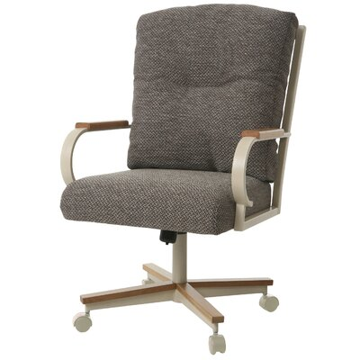 Ketchum Upholstered Dining Chair Upholstery Color: Brown