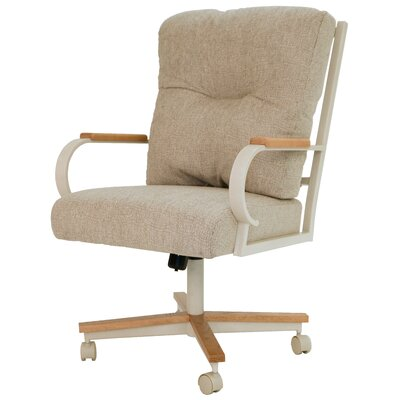 Kiker Upholstered Dining Chair Upholstery Color: Tan