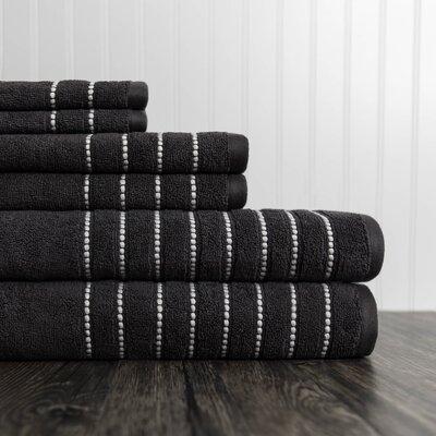 6 Piece Towel Set Color: Charcoal