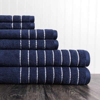 6 Piece Towel Set Color: Moonlit Ocean