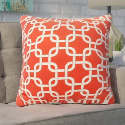 Banas Indoor/Outdoor Throw Pillow Color: Red