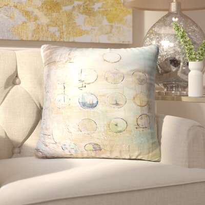 Someries Abstract Circles Indoor/Outdoor Throw Pillow Size: 26 H x 26 W x 8 D