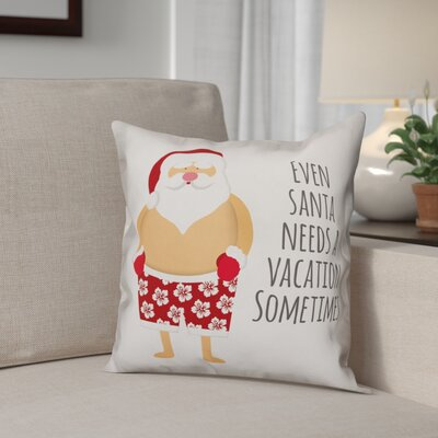 Santa Vacation Polyester Throw Pillow Type: Pillow Cover