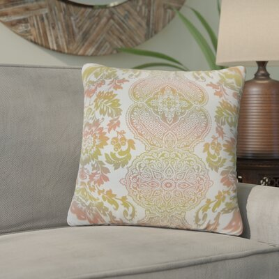 Nakety Damask Cotton Throw Pillow Color: Limestone