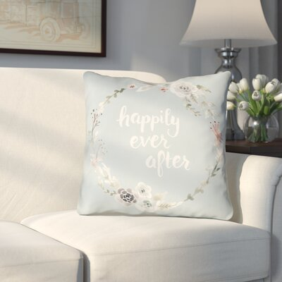 Lyle Indoor/Outdoor Throw Pillow Size: 18 H x 18 W x 4 D, Color: Gray Blue