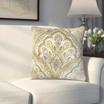 Whittaker Paisley Cotton Throw Pillow Color: Olive
