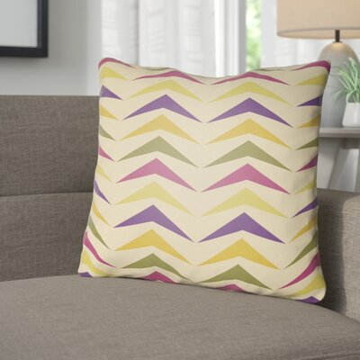 Wakefield Contemporary Square Throw Pillow Size: 18 H x 18 W x 4 D, Color: Magenta/Purple/Orange