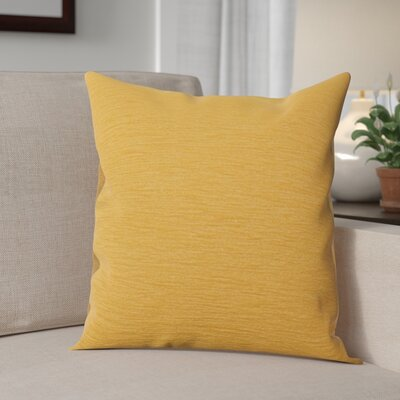 Danin Modern Outdoor Throw Pillow Color: Sunflower, Size: Small