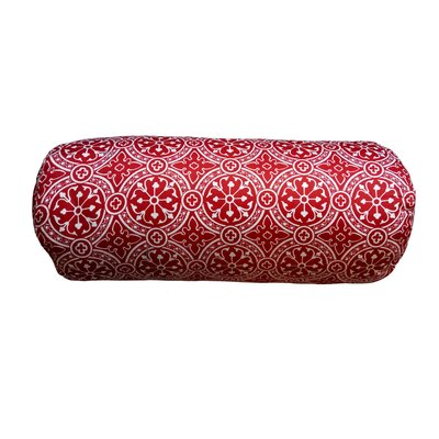 Cotter Non Bordered Neck Roll Throw Pillow Color: Cherry