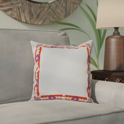 Willa Jodhpur Border Geometric Print Throw Pillow Size: 20 H x 20 W, Color: Orange