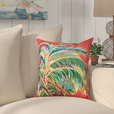 Pinkfringe Outdoor Throw Pillow Size: 18 H x 18 W, Color: Coral