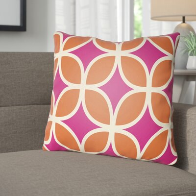 Wakefield I Throw Pillow Size: 18 H x 18 W x 4 D, Color: Magenta
