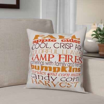 Favorite Fall Things Throw Pillow Pillow Use: Indoor