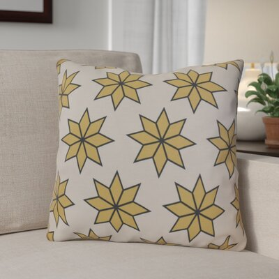 Christmas Decorative Holiday Geometric Print Outdoor Throw Pillow Size: 16 H x 16 W, Color: Gold