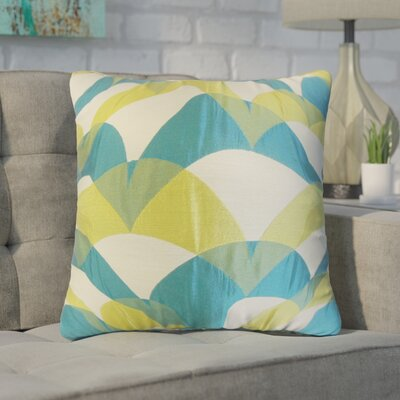 Wingler Geometric Throw Pillow Color: Blue