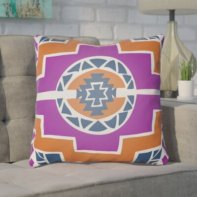 Adamson Indoor Throw Pillow Size: 18 H x 18 W x 4 D, Color: Magenta/Orange