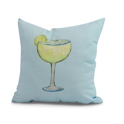 Crosswhite Margarita Plain Print Indoor/Outdoor Throw Pillow Color: Pale Blue, Size: 18 x 18