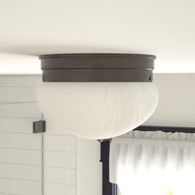 Keaton 1-Light Flush Mount Finish: Old Bronze